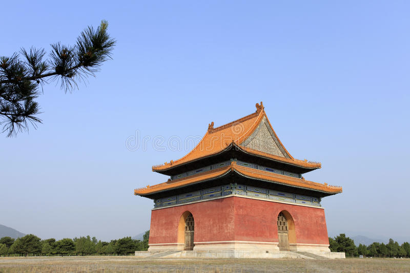 Qing dongling, building. The Qing dongling, building.China in the qing dynasty, emperor shunzhi's tomb stock photo