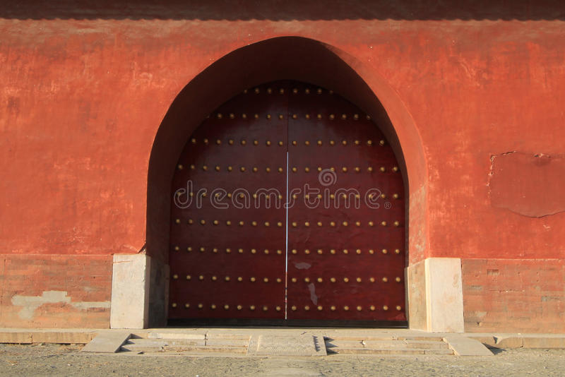 Qing dongling,Dahongmen. Qing dongling, the front entrance to the cemetery called grand palace gate, in the south of the cemetery, north of stone arch royalty free stock photos