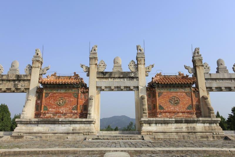 Qing dongling, porte de longfeng photos stock