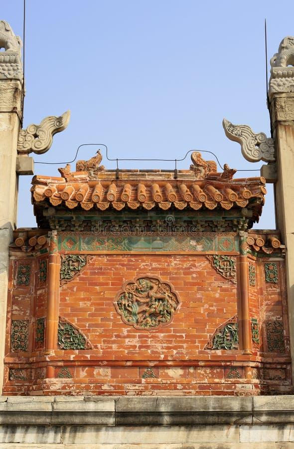 Qing dongling, porte de longfeng images stock