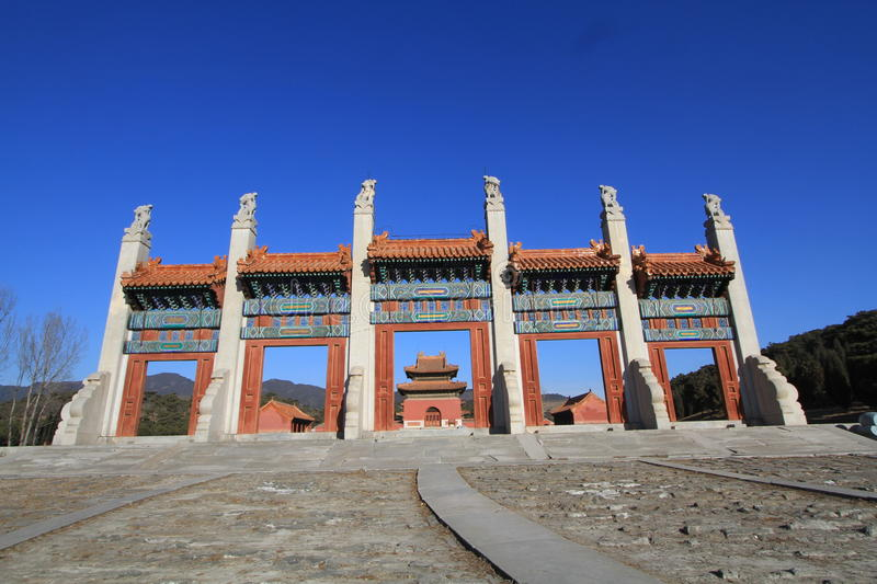 Qing dongling, tomb of emperor kangxi. Very magnificent buildings royalty free stock photo