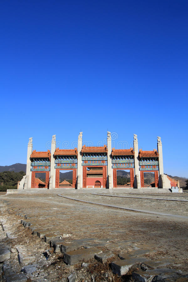 Qing dongling, tomb of emperor kangxi. Very magnificent buildings stock photo