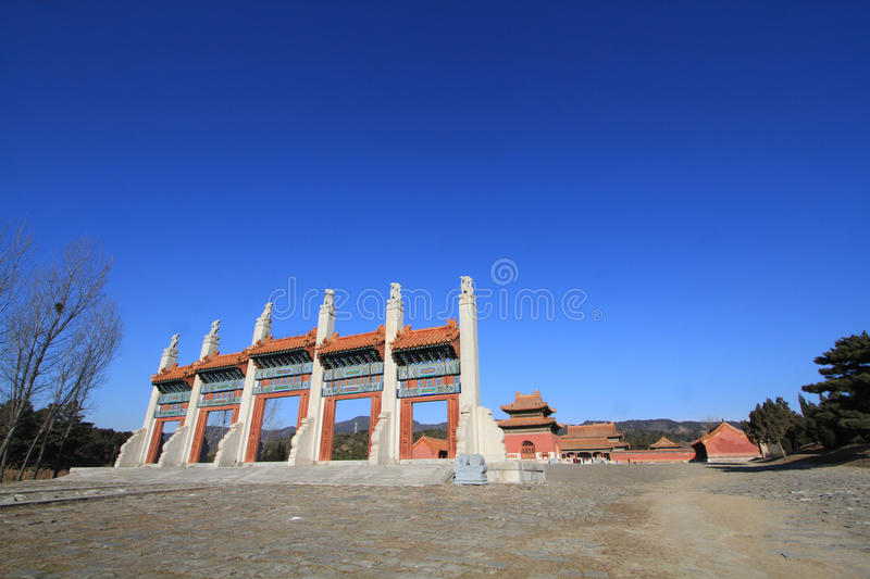 Qing dongling, tomb of emperor kangxi. Very magnificent buildings stock images