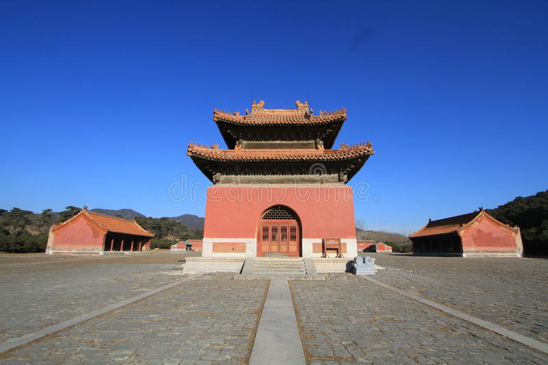 Qing dongling, tomb of emperor kangxi. Very magnificent buildings royalty free stock photos