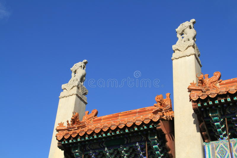 Qing dongling, tomb of emperor kangxi. Very magnificent buildings royalty free stock image