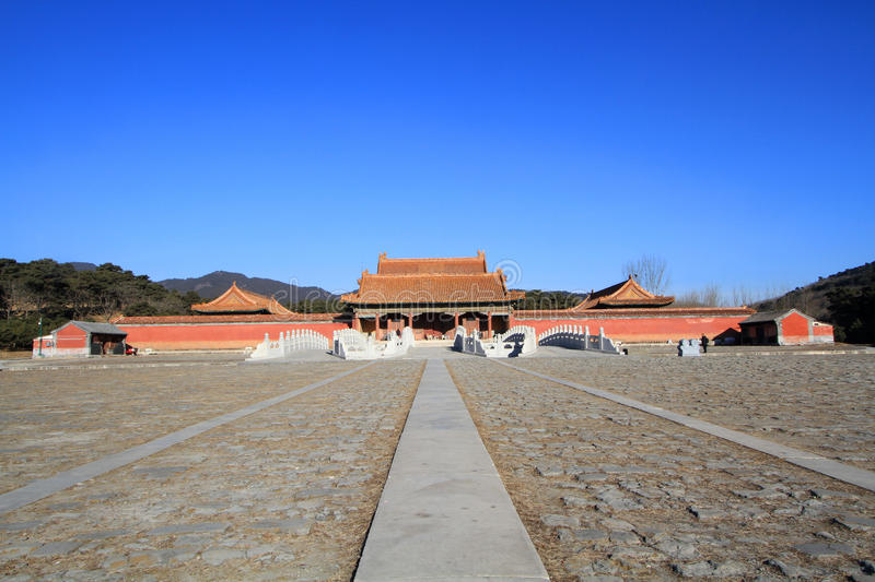 Qing dongling, tomb of emperor kangxi. Very magnificent buildings stock photography