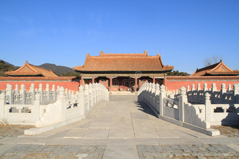 Qing dongling, tomb of emperor kangxi. Very magnificent buildings royalty free stock images