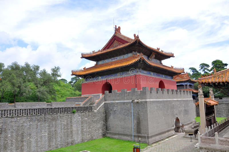 Qing Dynastia Fuling Grobowiec, Shenyang, Chiny fotografia stock