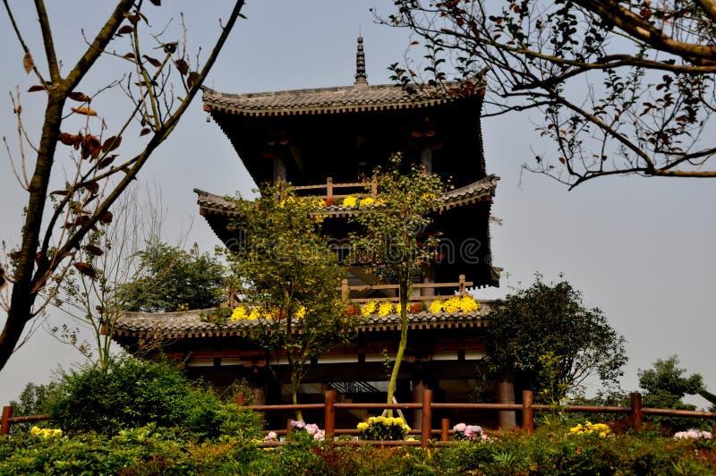 Download Qingbaihjiang, China: Sakura-Pagode Stockfoto - Bild von park, rost: 27733132
