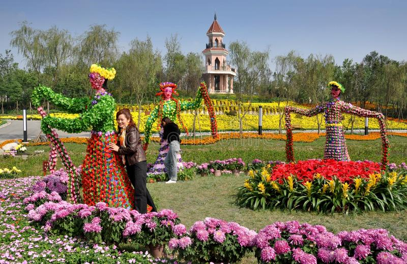 Qingbaijiang, China: Phoenix Lake Park stock image