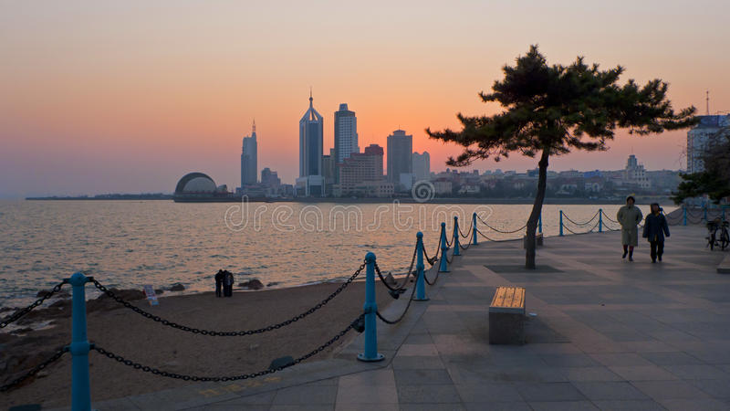 Qingdao city China stock image