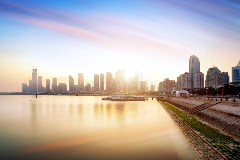 Qingdao Cityscape, China royalty-vrije stock foto's