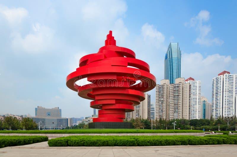 Qingdao, eine Stadt mit chinesischen Eigenschaften stockfotos