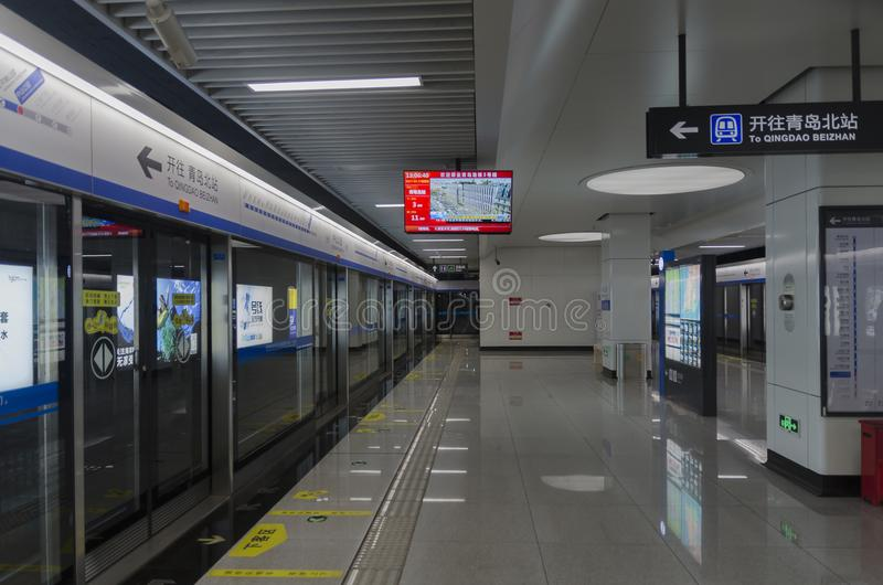 Qingdao gångtunnel i Kina arkivfoto