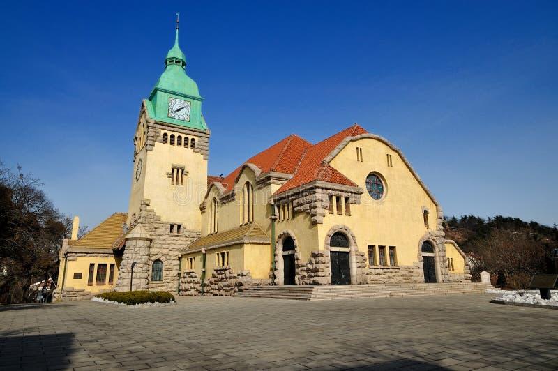 Qingdao-Kirche stockbilder