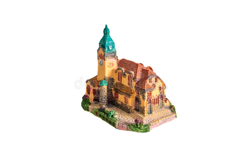Qingdao Lutheran Church model isolated on white royalty free stock photos