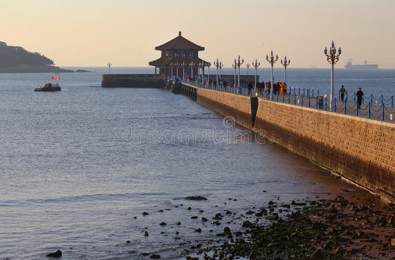Qingdao miasto zdjęcia royalty free