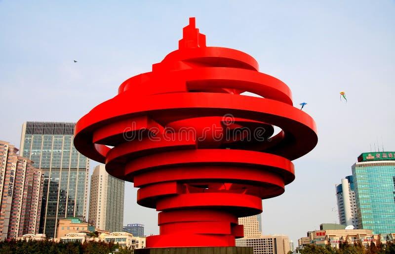 Qingdao miasto Shandong, porcelana zdjęcie royalty free