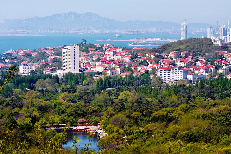 Qingdao paesaggio urbano, Shandong, Cina