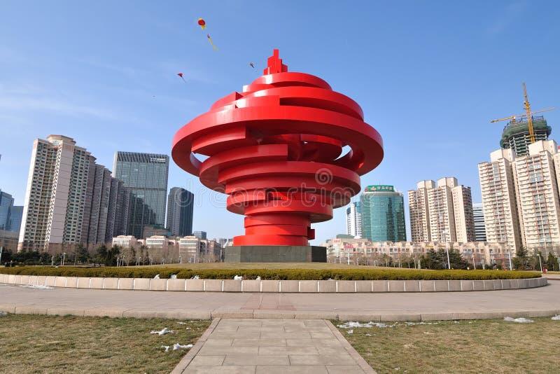 Qingdao-Stadt China stockfoto