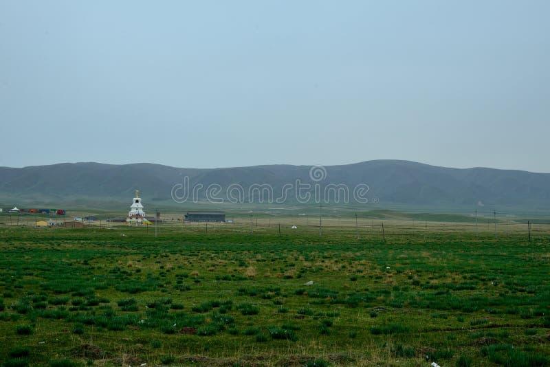 Qinghai Jeziorna sceneria wzdłuż sposobu zdjęcia royalty free