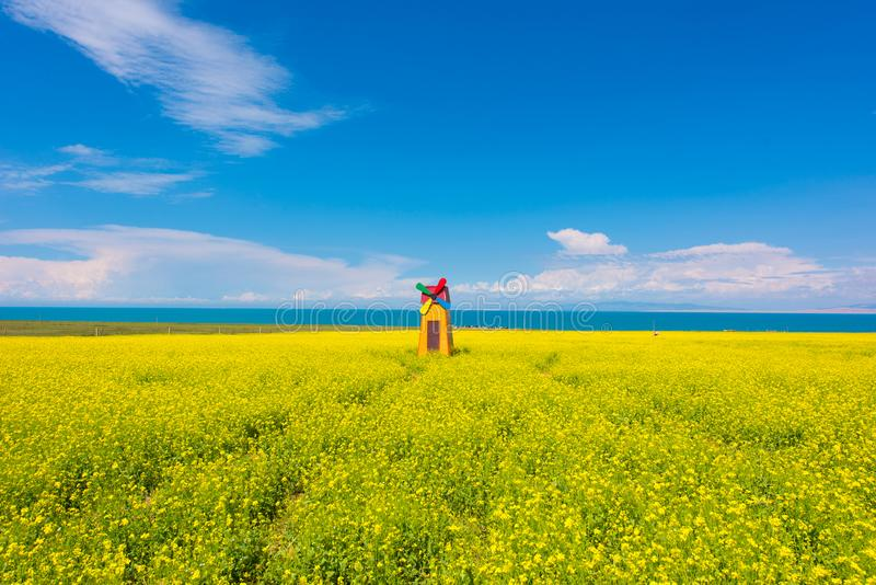 Qinghai Lake. ,is a famous 5A scenic spot, in qinghai province ,Northwest China stock images