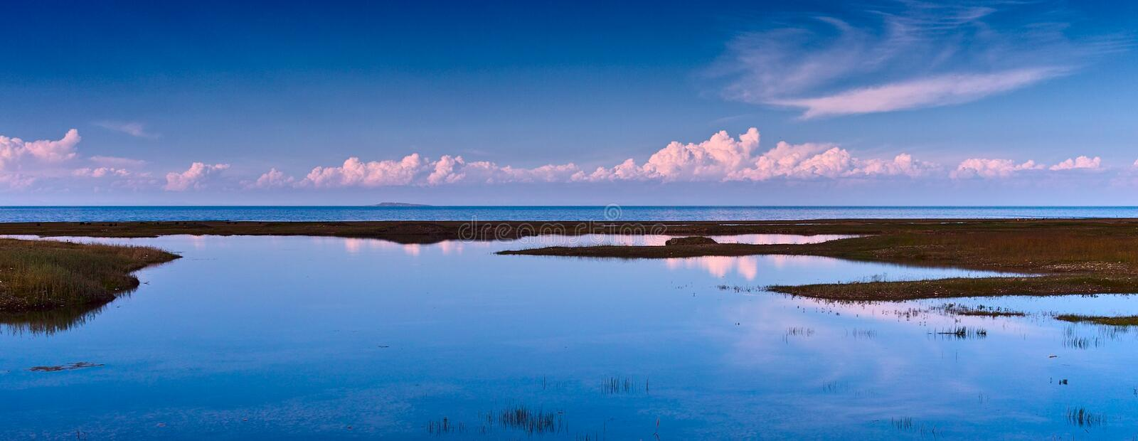 Qinghai lake. This is the corner of the qinghai lake, qinghai lake is China's largest salt water lake stock images