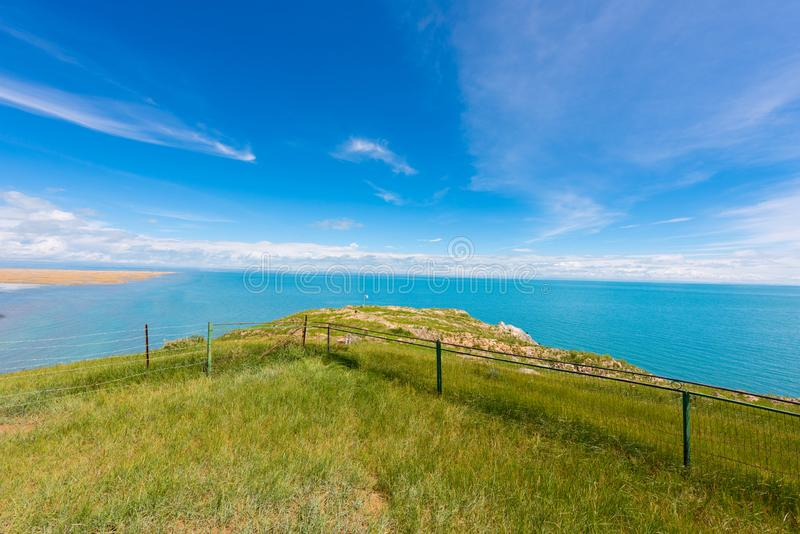Qinghai Lake. Coastline of Qinghai Lake ,5A Scenic Spot in qinghai province,Northwest China royalty free stock images