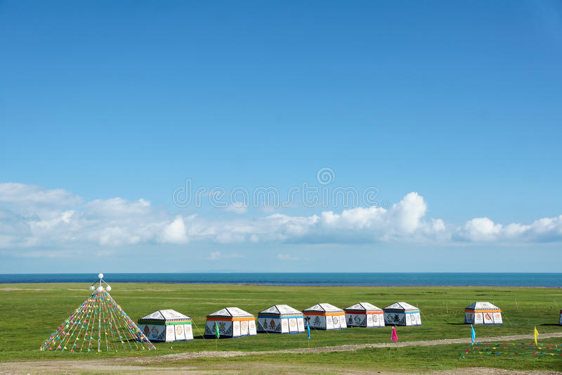 Qinghai Lake scenery. The landscape of Qinghai Lake in China royalty free stock image