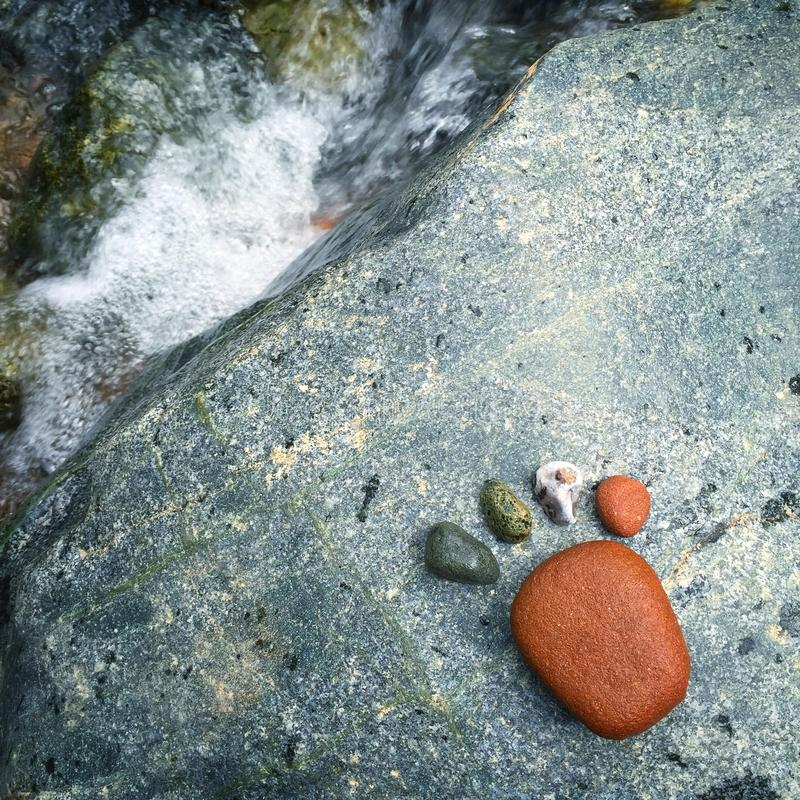 Qinghai rysunku kamień zdjęcie stock