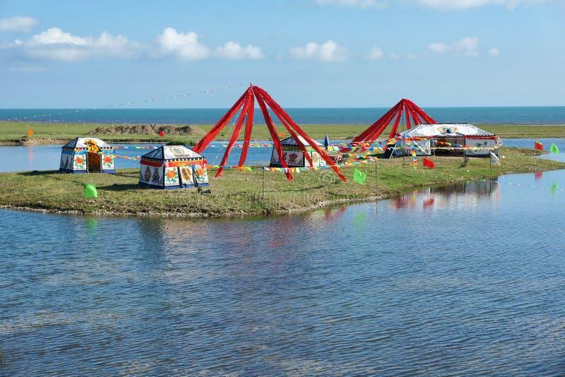 Qinghai sjölandskap royaltyfri bild