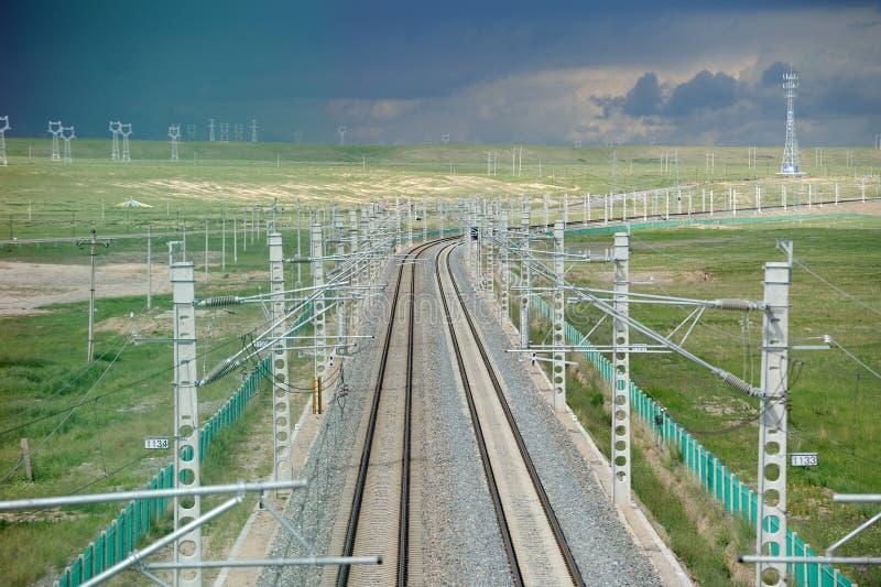 Qinghai-Tibet järnväg arkivbild