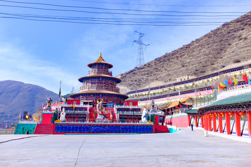 Qinghai xining: great kunlun nine day saint - MaLong phoenix mountain stock photography