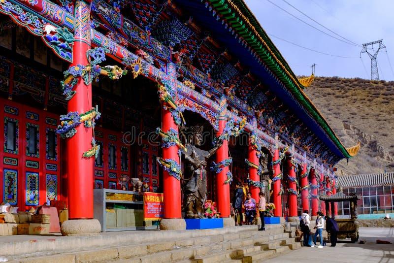 Qinghai xining: stor kunlun nio dag helgon - MaLong phoenix berg royaltyfri foto