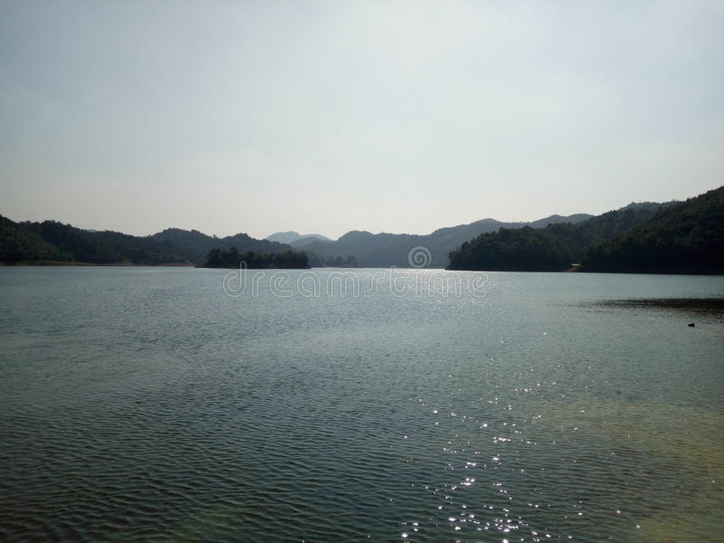 Qingjiang reservoir stock photography