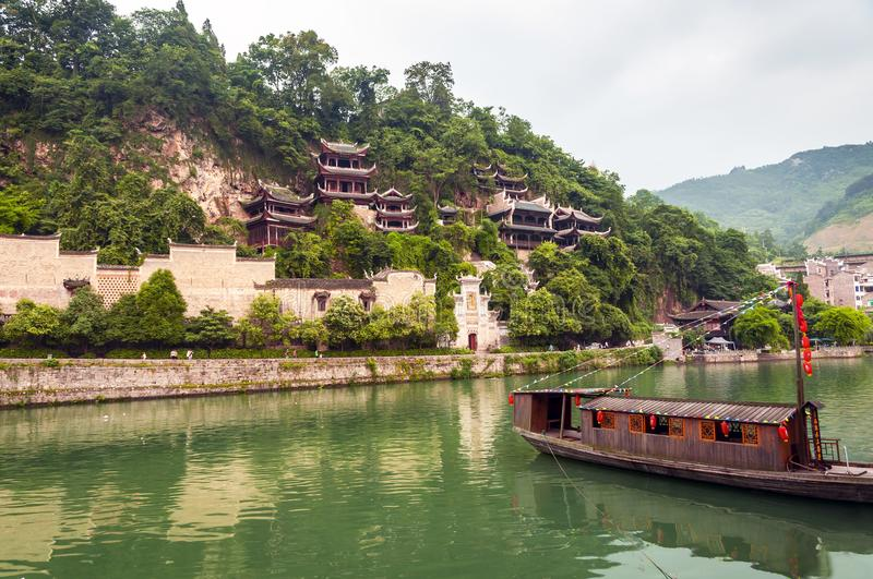 Guizhou. This is the QingLong Palace which located in Zhenyuan of Guizhou China royalty free stock photography