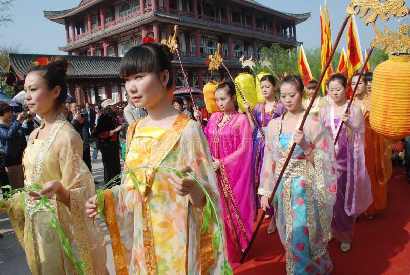 qingming för kinesisk festival för ceremoni minnes- offentlig royaltyfri fotografi