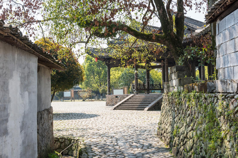 Qingshan(musical instrument hill) play center square stock photo