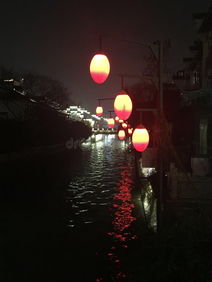Qinhuai-Fluss in Nanking stockfotografie