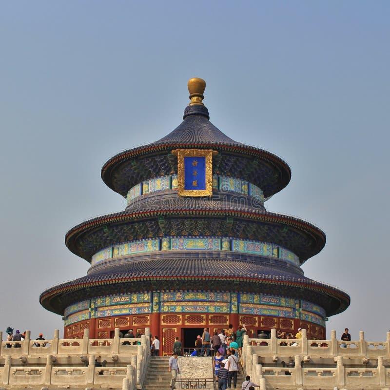 Qiniandian - Zaal van gebed voor goede oogsten, de Tempel van Hemel, Peking royalty-vrije stock foto