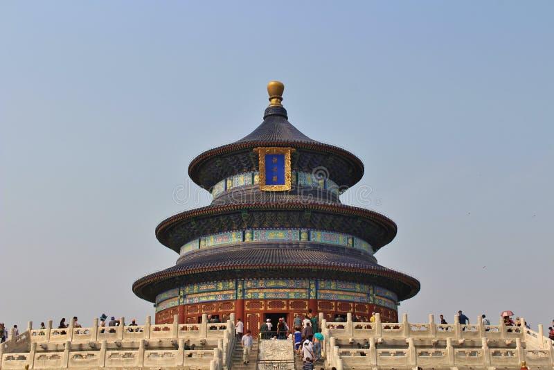 Qiniandian - Zaal van gebed voor goede oogsten, de Tempel van Hemel, Peking stock fotografie