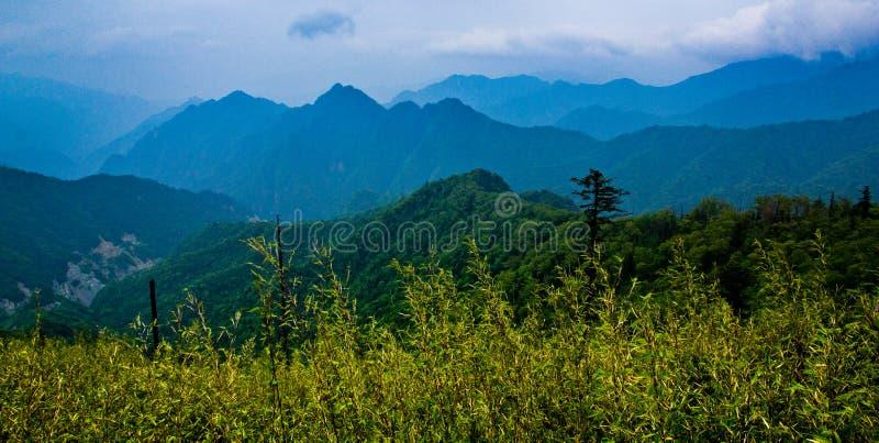 The Qinling Mountain Ridge. Of China stock image