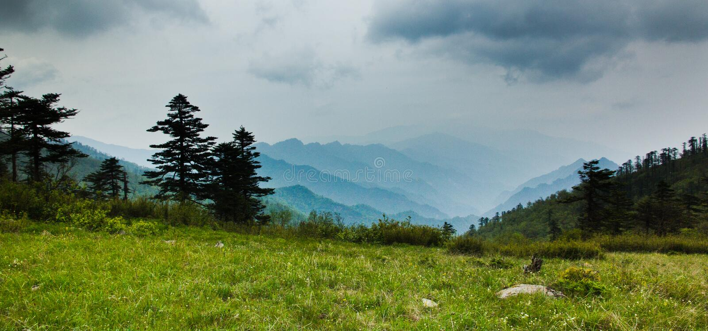 The Qinling Mountain Ridge. Of China royalty free stock image