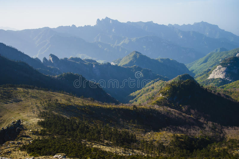 Qinling Mountains. Beautiful Qinling Mountains and grassland royalty free stock photo