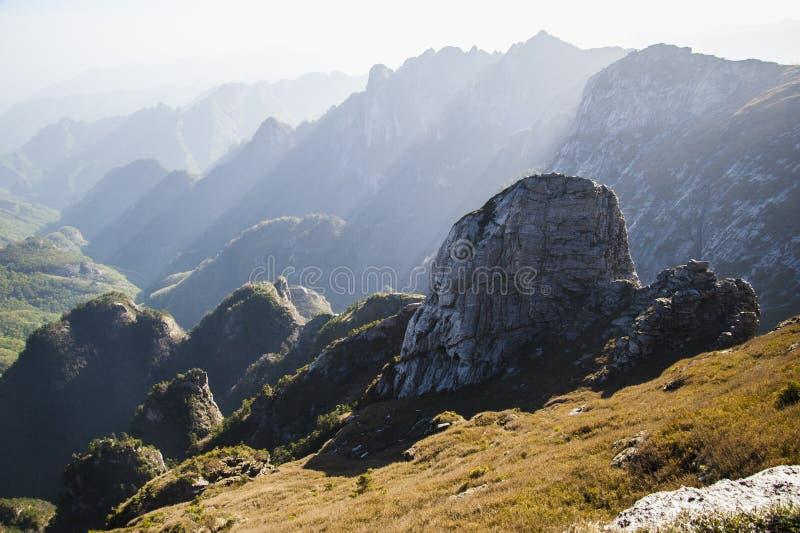 Qinling Mountains. Beautiful Qinling Mountains in the sunshine stock photos