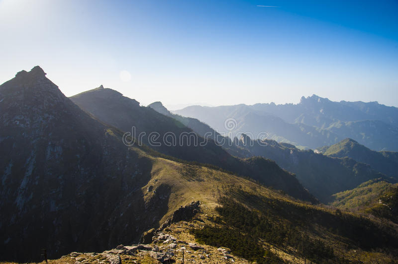 Qinling Mountains. Beautiful Qinling Mountains in the sunshine royalty free stock photography