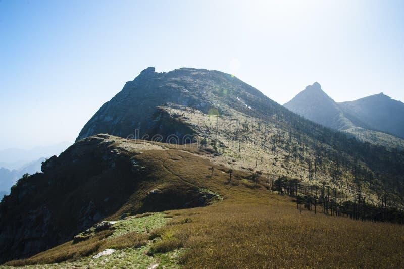 Qinling Mountains. Beautiful Qinling Mountains in the sunshine royalty free stock photos