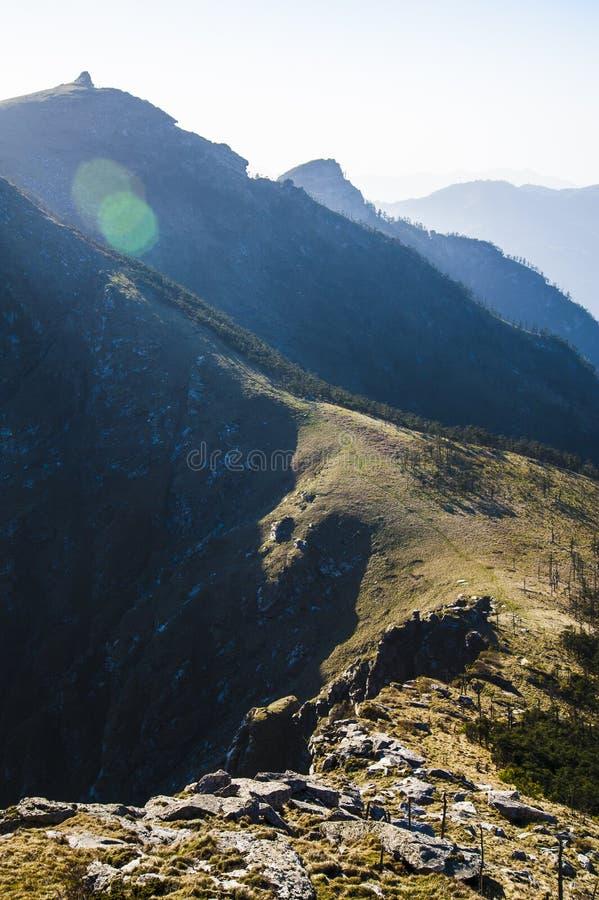 Qinling Mountains. Beautiful Qinling Mountains in the sunshine stock image