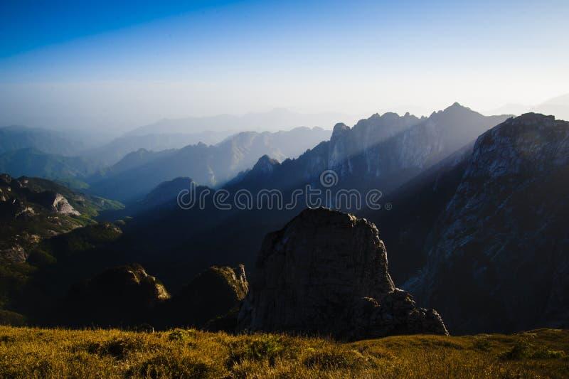Qinling Mountains. Beautiful Qinling Mountains in the sunshine stock photography