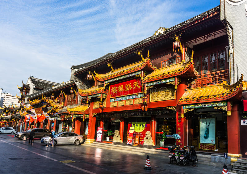 Qintai Road in Chengdu China stock photos